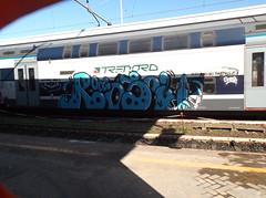domani vado a surfare/ auguri fratello (en-ri) Tags: train writing graffiti surf surfer crew azzurro bianco nero oas ros novara trenord sne6