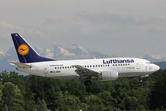 D-ABIA Boeing 737-530 Lufthansa (pslg05896) Tags: geneva lufthansa boeing737 gva lsgg dabia ebace