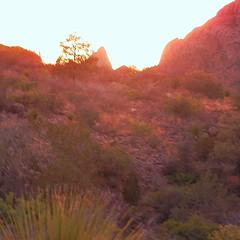 Sunset on 'The Window'