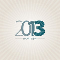 Happy New 2013 Free Vector (eugenejoe414) Tags: family friends party typography design background decoration invitation card type celebrate greeting vector happynewyear 2013