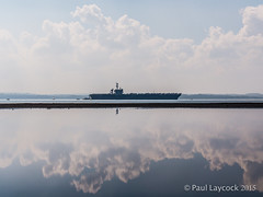 Naval Reflections - EXPLORED (amipal) Tags: sea water clouds us ship navy aircraftcarrier usstheodoreroosevelt