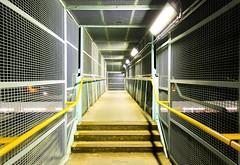 Debden Station, IG10 (LFaurePhotos) Tags: london station architecture underground footbridge empty east essex deserted centralline debden