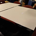 Square chrome aluminium/glass table