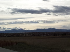 March 26, 2015 - Fabulous late day clouds over the Rockies. (David Canfield)