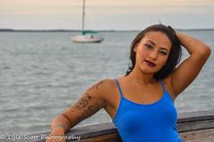 Carrigain in Blue (BuccaneerBoy) Tags: blue woman water girl beautiful beauty marina fun boats bay pier spring dock model pretty florida april dunedin lovely photosession brunettes 2015 lylescottphotography carrigainscadden