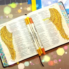Psalms 91:4 Under his wings you will find refuge Bible Journaling (TiffanyDoodles) Tags: square wings squareformat psalms tutorial distressink iphoneography instagramapp uploaded:by=instagram