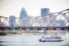 River Boatin' (Shannon Tompkins) Tags: bridge ohio skyline canon river boat paddle belle louisville 70200 extender 2x 60d