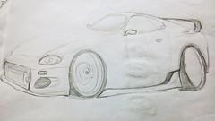Toyota Supra (Audiman37) Tags: cars japan paul drawing fast walker toyota jdm furious supra