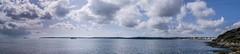 first panoramas with the big camera (Sam Hopwood) Tags: uk sea sky panorama beach beauty clouds nikon cornwall ships falmouth cloudporn d3300