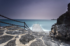Fancy a Swim? (Jigsaw-Photography-UK) Tags: sea wall landscape skies steps lee