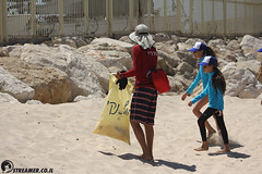 IMG_8806 (Streamer -  ) Tags: ocean sea people green beach nature students ecology up israel movement garbage sunday north group young cleanup clean teen shore bags  nonprofit streamer  initiative enviornment    ashkelon          ashqelon   volonteers      hofit