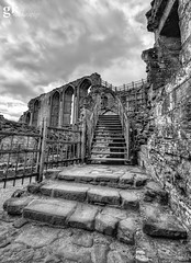 Stairway to Destruction (Foxhole76) Tags: kenilworth castle warwickshire medieval tudor history english heritage nikon d7100 sigma 1020mm hdr mono black white artistic aspect ruins inner court