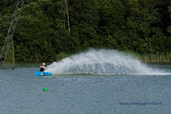 High speed wakeboarding (2) (John de Grooth) Tags: wakeboard wakeboarden highspeed spetterend ermerstrand recreatie watersport spanning tension