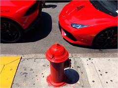Ferraris (Chris Protopapas) Tags: ferrari hydrant nyc newyorkcity sidewalk red