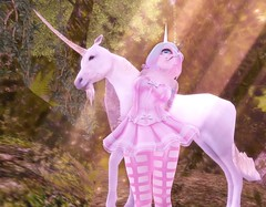 Pink Unicorn (suzumezuki) Tags: sl photo slphoto slphotography pink kawaii unicorn cyclops tsg iris fantasy pastels maitreya lara lcky tutu sntch fashion clothing shopping secondlife