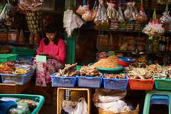 Myanmar 44 (franksteinmann) Tags: myanmar market kengtung stall seller groceries burma asia