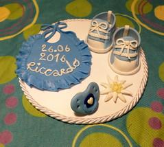 sopratorta Riccardo (mindi64) Tags: fimo cernit handmade artigianale cute sopratorta cake caketopper battesimo compleanno