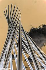 Visiting Fermilab - 2016 - Tractricious Sculpture (RickDrew) Tags: illinois exploring 2016 canon 5dmkiii summer fermi fermilab batavia science tractricious sculpture art tubes accelerator laboratory lab