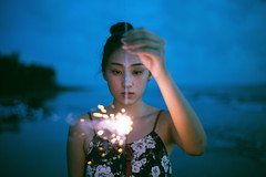 2J5A0332 ( ) Tags: blue girls light sea sky love girl beautiful night canon photo photographer firework  5d3    50mmf18stm jashangtang