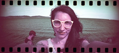 film (La fille renne) Tags: film analog 35mm lafillerenne portrait woman lomography sprocketrocket lomochrome lomochromepurple lomochromepurplexr100400 selfportrait sea cavalaire roadtrip nature mediterranean travel summer purple
