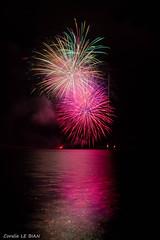 feux au lac du Drennec 2016 (coralie le bian) Tags: feux dartifice drennec firework finistre fte feu lac nuit canon canon600d couleurs colours bretagne sizun 1855 2016 reflet