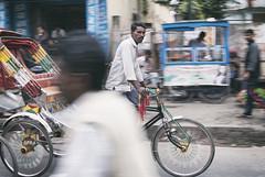Birgunj Bustle (johnelbrando) Tags: november nepal india bicycle photoshop 35mm nikon taxi border busy software cycle transportation nik 18 bustle nepali dx rikshaw tarai 2015 birgunj andolan d3000 madhesi madhes raxaul