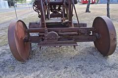 rear wheel tilt mechanism to assist turnng (outback traveller) Tags: historic seq