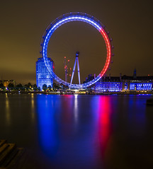 London Eye (d2francis2) Tags: city uk longexposure light england london eye thames night river sony fliter neutraldensity a7r f64g77r2win
