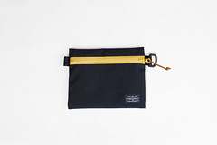 Flat Pouch Blue Yellow 03 (Imagery Bags) Tags: zipper ykk waterresistant flatpouch drypouch