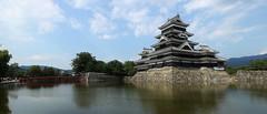 Matsumoto Castle (maco-nonchR) Tags: matsumoto castle nagano    nationaltreasure  blue sky moated moat water bridge   black sunny manual allmanual
