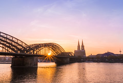Remastered (Explore #14) (Fabian F_) Tags: hohenzollernbrcke kln bridge sunset cologne rhein river cana dom sun sunrays evening sky october remastered city