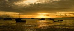 Como se fosse a primeira vez (Nerize Portela) Tags: prdosol sunset poetic poesia barcos silhuetas nature amazing hotsunset