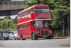 RMA 65 leaves Huntingdon Railway Station with a Secret Garden Party working, July 22nd 2016 (Bristol RE) Tags: huntingdon rma65 nmy665e aec routemaster secretgardenparty bea