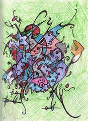 Herd Mentality (darksaga66) Tags: drawing sketch bookofink inkart penandink art herd
