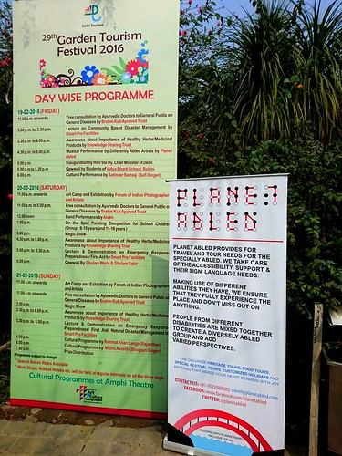 Accessible tour organised by Planet Abled to Garden Tourism Festival 2016