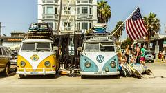 Venice Beach Surf Rent (DIMPICTURES) Tags: venice beach surf rent vw combi vintage american flag california