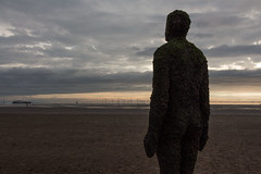 Another Place (MattLawrence) Tags: anotherplace anthonygormley landart sculpture b1ackprojects sandart aerial drone