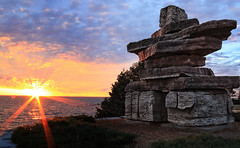 Morning in Collingwood (just picture this....) Tags: inuksuk collingwood sunrise autofocus ontario canada john crhak
