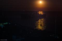 the shipwreck at night (Romulus Anghel) Tags: night moon costinesti ship shipwreck romania landscape lights light canon capturedmoments clouds theblacksea sea water