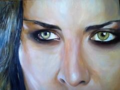 Studio di volti (Artlynow galleria d'arte) Tags: dipinto quadro pittura artista volti volto occhi ritratto quadroolio giancarloturchini