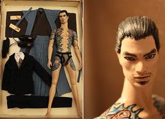 For Sale: Hunky Dreams Giftset Yakuza 150usd - ON HOLD (em`lia) Tags: fashionroyalty fr homme male doll ken fashion clothes shoes ooak repaint emiliacouture