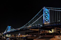 Architecture Built Structure Bridge - Man Made Structure Night Connection Suspension Bridge Illuminated Ben Franklin Bridge Philly Phillylove  Engineering Travel Destinations Famous Place Low Angle View Transportation Travel Clear Sky Tourism City (JKickin) Tags: architecture builtstructure bridgemanmadestructure night connection suspensionbridge illuminated benfranklinbridge philly phillylove engineering traveldestinations famousplace lowangleview transportation travel clearsky tourism city internationallandmark mobilephotography fujifilmxt1 citylife sky