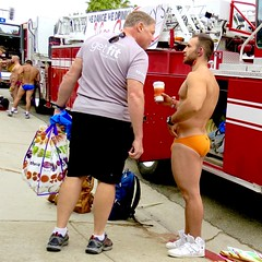 IMG_6113 (danimaniacs) Tags: losangeles westhollywood gay pride parade hot sexy stud hunk man guy shirtless back fire truck engine swimsuit trunks speedo briefs beard scruff