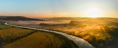 Summer mist (Andrew Thomas 73) Tags: warningcamp england unitedkingdom gb dji phantom3 river arundel sunrise aerial photography quadcopter drone