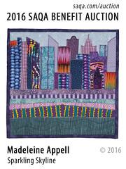 Sparkling Skyline by Madeleine Appell (saqaart) Tags: artquilts saqa fiberart quilts textiles artwork stitched layered