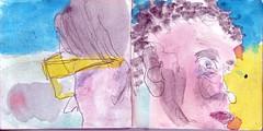 als htten sie sich jemals etwas zu sagen gehabt (raumoberbayern) Tags: sketchbook skizzenbuch tram munich mnchen bus strasenbahn herbst winter fall pencil bleistift paper papier robbbilder stadt city landschaft landscape