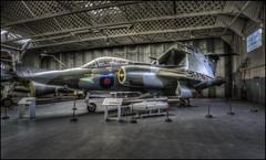 Duxford - Buccaneer (Darwinsgift) Tags: buccaneer duxford imperial war museum hangar nikkor 20mm f18 g hdr photomatix plane aeroplane aviation history