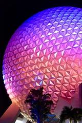 Colorful Ball (donna_0622) Tags: epcot ball ride night colorful pretty palms nikon d750 vacation fl florida orlando