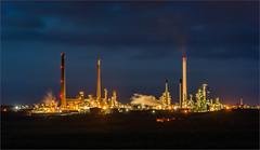 Valero Pembroke Oil Refinery (the governor) Tags: oil night valero refinery pembrokeshire lights