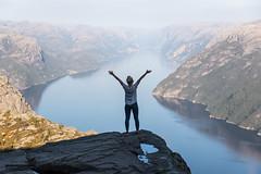 playground (chrisimmler) Tags: peak fjord trip hiking free spirit joy alive nature mountains norway preikestolen rock ocean beauty